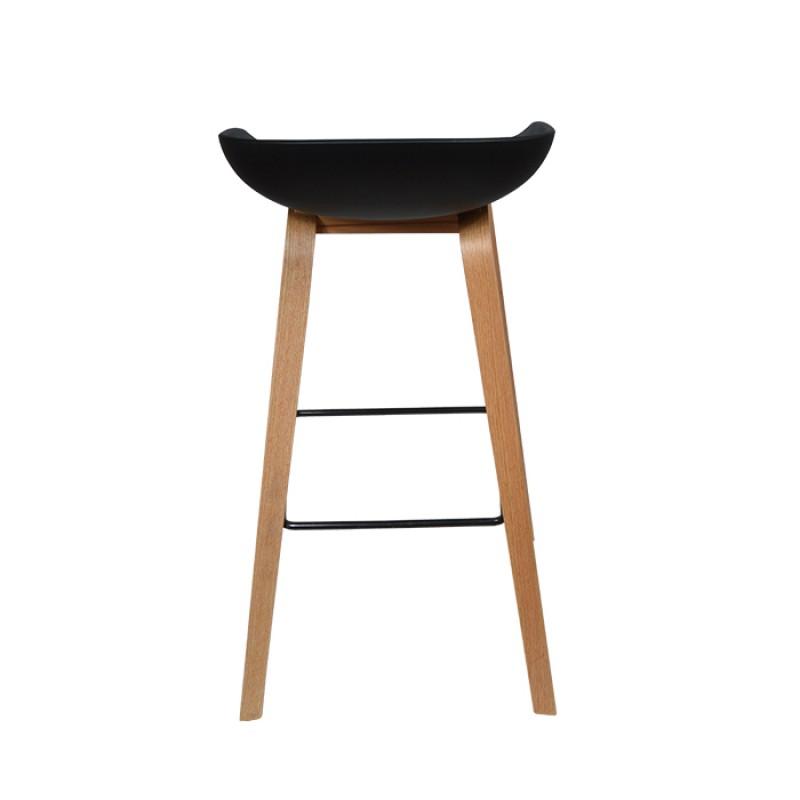 Елегантен бар стол NORDIC Bar, черен