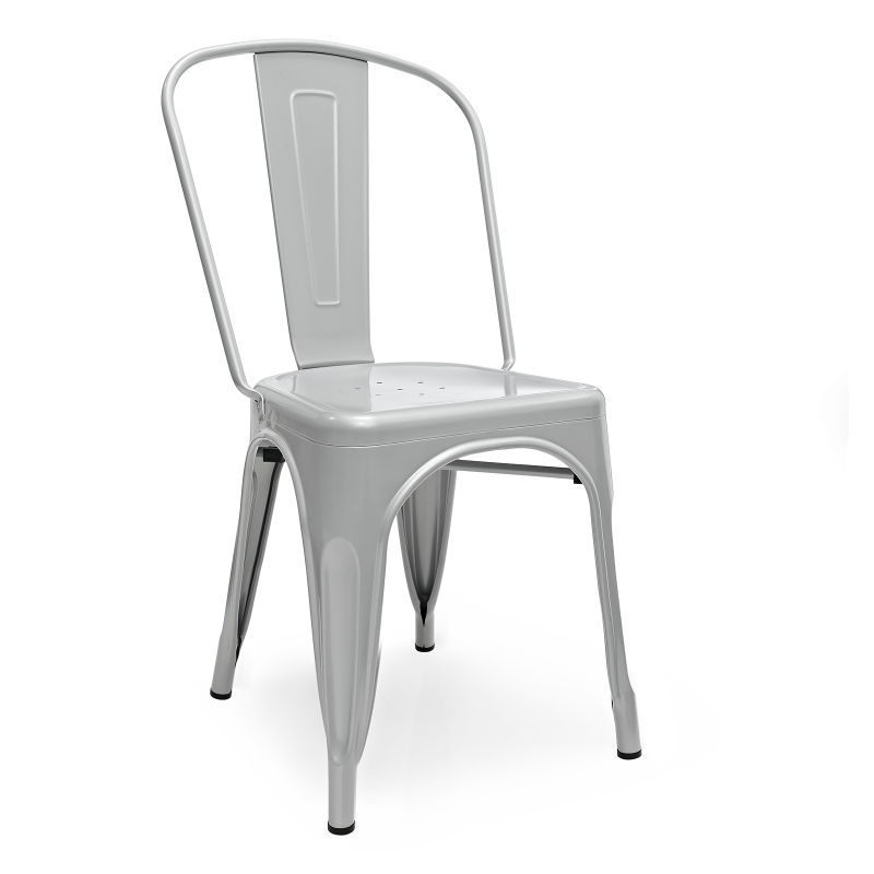 Метален стол сив, TEXAS grey