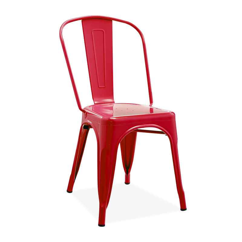 Метален стол червен, TEXAS red