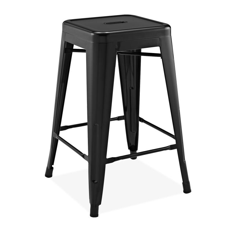 Метален бар стол черен, TEXAS S...