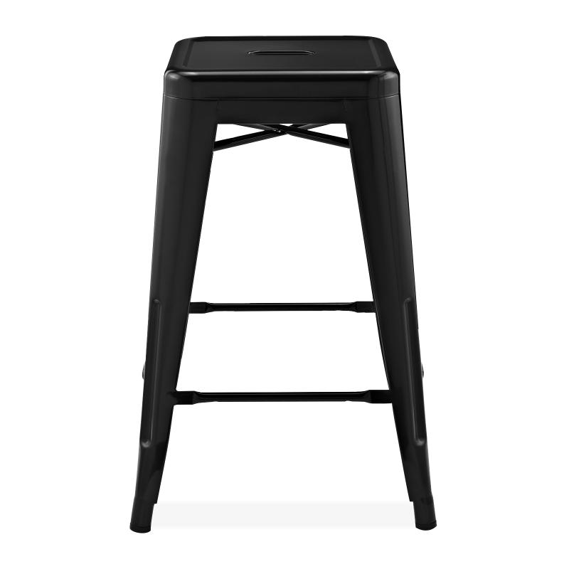 Метален бар стол черен, TEXAS STOOL black