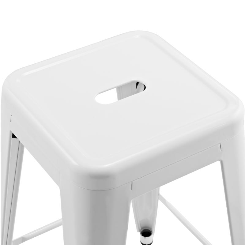 Метален бар стол сив, TEXAS STOOL white