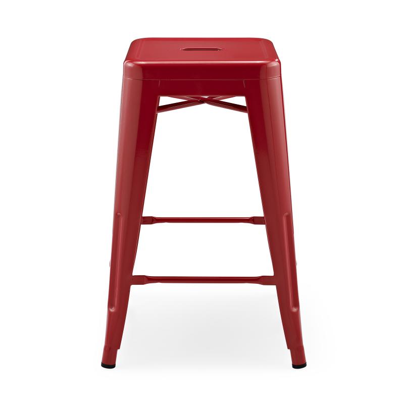 Метален бар стол червен, TEXAS STOOL red