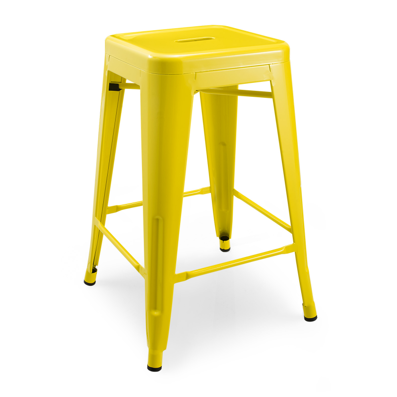 Метален бар стол жълт, TEXAS STOOL yellow