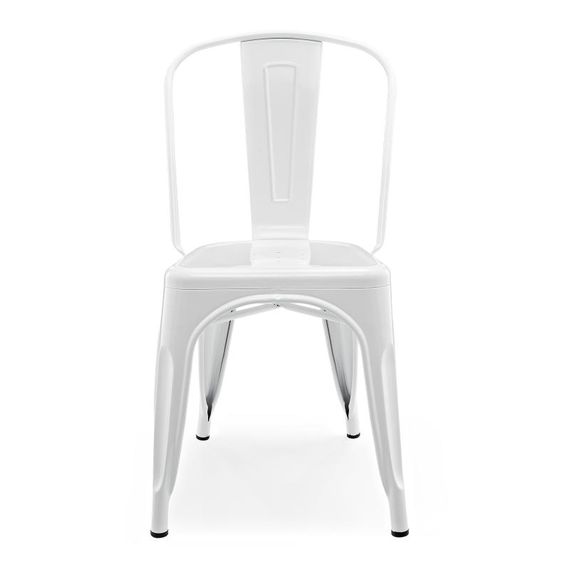 Метален стол бял, TEXAS white