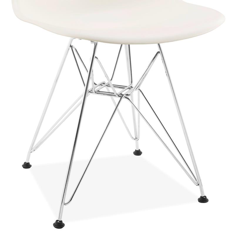 Модерен стол с метални крака EMS OFFICE white, бял