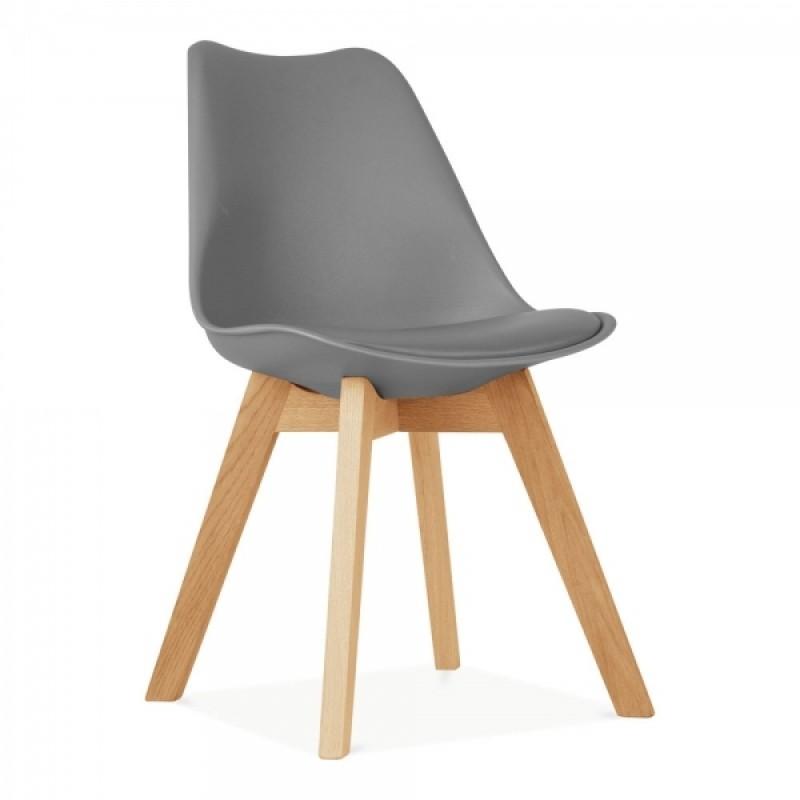 Трапезен стол с дървени крака AALTO, сив