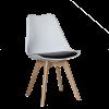 Трапезен стол с дървени крака AALTO