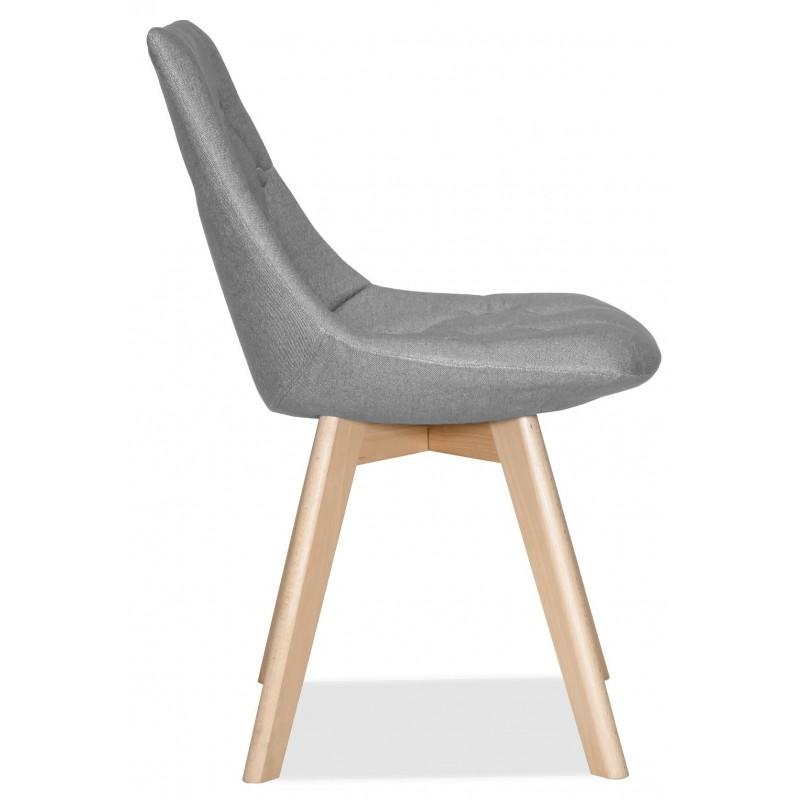 Трапезен тапициран стол COX, сив