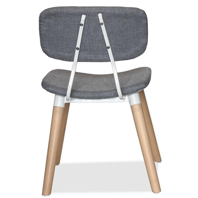 Тапициран дизайнерски стол с дървени крака, NEUTRA