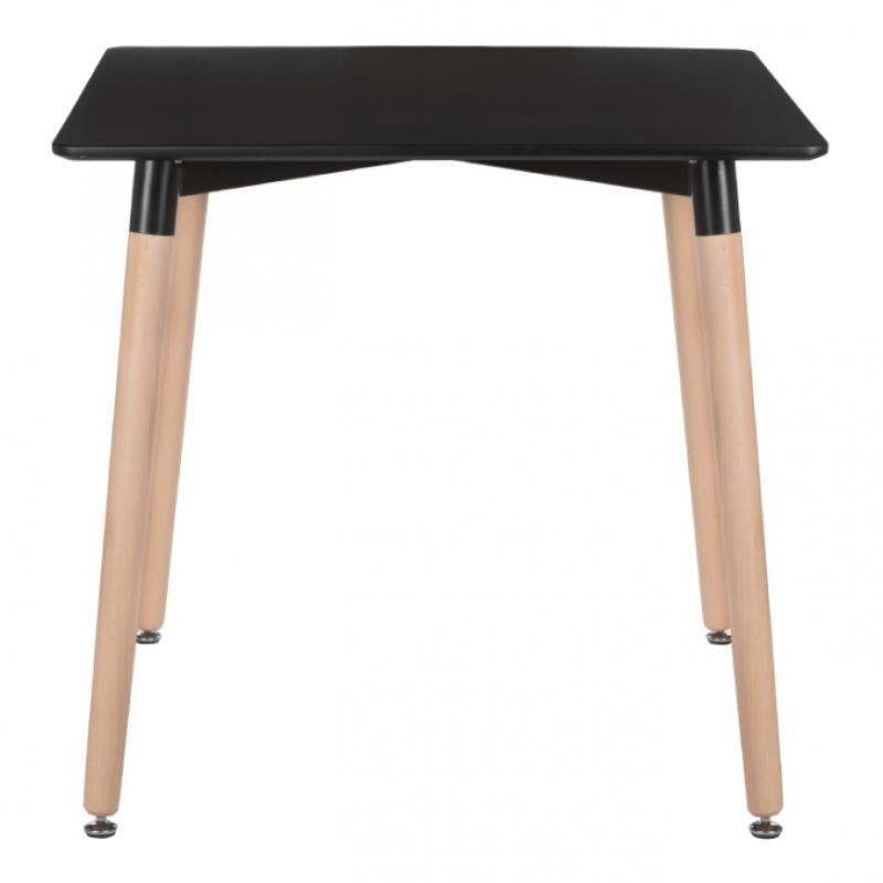 Квадратна трапезна маса TABLE SQ black 80x80 см, черен плот