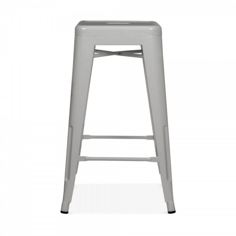 Метален бар стол сив, TEXAS STOOL grey